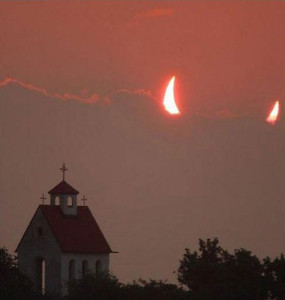 eclipse devil horns church perfect timing